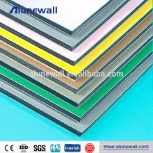 Painel de parede interno de alumínio revestido do filme plástico PE com preço competitivo