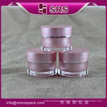 5g 10g 15g radian forma acrílico frasco cosmético, jarros de plástico de alta qualidade designer