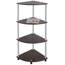 Four Layers Glass Corner Stand/Clear Glass or Black Glass