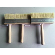 Cepillo de pintura de alambre de plástico de mango de madera (YY-613)