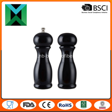 Beech wood pepper mill and shaker set