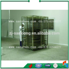 trolleys and trays in fruit and vegetable tunnel dehydrating machine