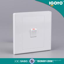 Igoto Home Electric 1gang Interruptor de pared de 1 vía Interruptor de pared de botón pequeño