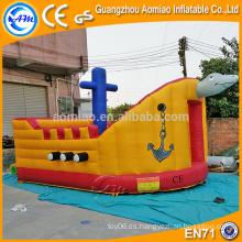 Cute tortuga nave diseño frecuentado casa de rebote / castillo congelado, AM bouncy castillo mayoristas
