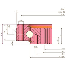 Rollix Light Typ Vier-Punkt-Kontakt Kugelkegellager (32 0941 01)