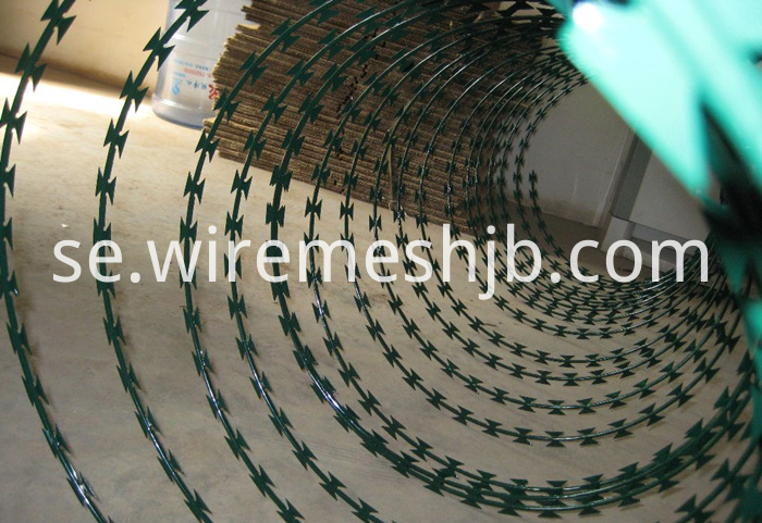 Green Color Razor Wire
