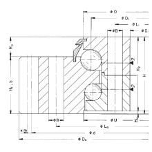 Rothe Erde engranaje externo rodamiento de doble bola de balanceo (011.20.1385.001.21.1504)
