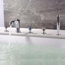 HIDEEP Voller Kupfer Badewanne Wasserhahn Dreiteilig