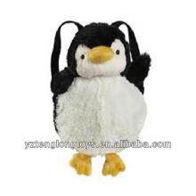 Factory Wholesale Animal Shaped Plush Backpack Penguin Backpack