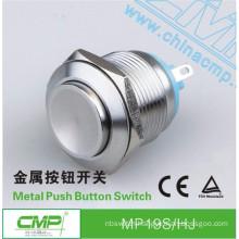 CMP waterproof IP67 IP68 switch 19mm metal self resetting button