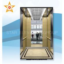 Ascensor de pasajeros de oficina de lujo con sala de máquinas