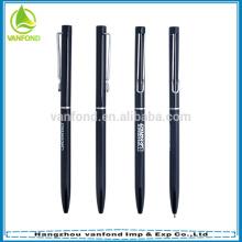 2015 populaire Hôtel Croix mince utilisé stylo à bille publicitaire matériel métal aluminium