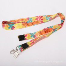 Cute funny heat transfer lanyard with magic tape