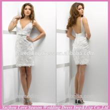 WD1213 новое поступление отлично кружева многослойных пышная юбка короткое свадебное платье с 3D цветы спинки свадебное платье короткое