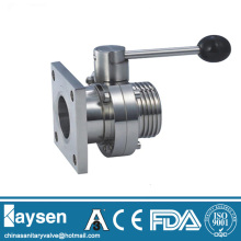 Sanitary butterfly valves thread and flange DIN