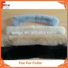 Dyed Single Color Big Fox Fur Collar