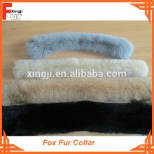 Dyed Single Color Big Fox Fur Collar