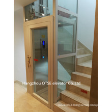House used glass single one person lift elevator
