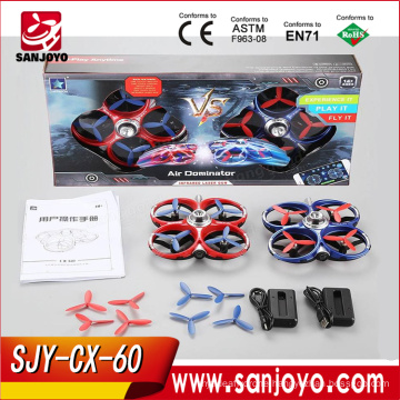 New Arrival Cheerson CX-60 2.4G 4CH WiFi Infrared Fighting Drones 3D Flips RC Drone Quadcopter with Camera