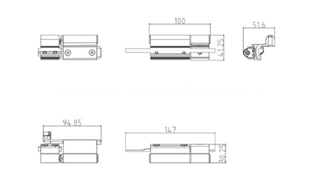 Aluminium Heavy Duty Door Hinge, Hinge Components, Aluminum Door Pivot Hinge Drawing