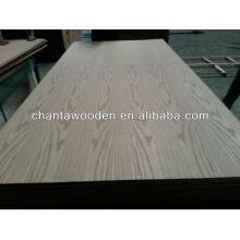 Chapa de madera de roble rojo 4x8 con madera de madera dura, núcleo de álamo