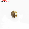 LinBo Guten top 1/2 inch Pipe end caps Dimension Brass Copper Pipe stop end for water