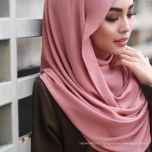 78 couleurs pas cher premium en gros hijab malaisie femmes écharpe hijab chiffon