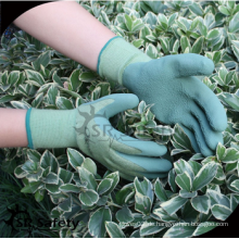 SRSAFETY billig preis / 13G gestrickte Nylon Schaum Latex beschichtete weiche Hand Handschuhe / Schutzhandschuhe