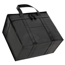Heavy Duty Foldable Insulated Shopping Bags Washable Cooler Bags for Groceries or Food Delivery