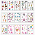 New Design Waterproof Personality Kids Body Tattoo Stickers
