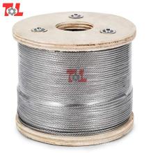 Cuerda de alambre de acero inoxidable 7X7
