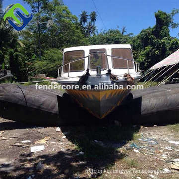 Dia1.5m L12m boat and ship landing launching rubber airbag