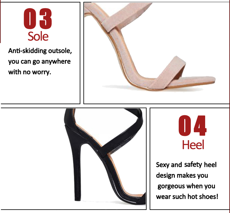 stiletto open toe shoe