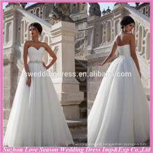 WD9069 new famous with great price without train organza A-line strapless taiwan wedding dress manufacture