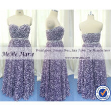 Pageant платья фиолетовый милая цветок с узорами шифон Вечерние платья до 14060