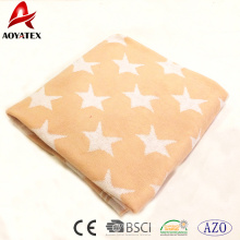 10 years experience 100% cotton knitted baby blanket