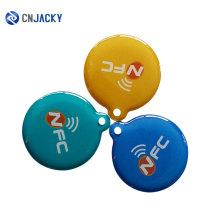 China proveedor personalizado diseño 13.56 MHZ / 125KHZ jalea translúcida Epoxy NFC Mini tarjeta