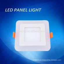 Color azul / blanco color doble llevó luz del panel, luz cuadrada doble cuadrado llevó el panel