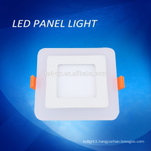 Blue/ white color double color led panel light, double color square light led panel