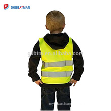 100% Polyester High Visibility Security Surveyor Safety Vest Kids Reflective Traffic Waistcoat With Hook&Loop Closure