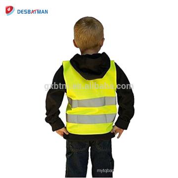 Gilet de sécurité réfléchissant de sécurité d'arpenteur de sécurité de haute visibilité de 100% enfants gilet réfléchissant de trafic avec la fermeture de crochet et de boucle