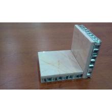 Paneles compuestos de nailon de piedra de 20mm para revestimiento de pared