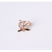 Rose Gold Fashion Jewelry Ring with Dragonfly Design