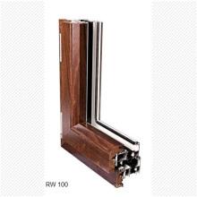 Portes et fenêtres en aluminium de luxe en bois massif