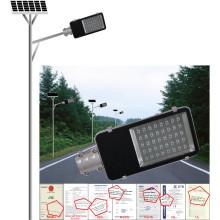 30W Solar Street Light, casa ou exterior usando lâmpada solar, luz de jardim ao ar livre