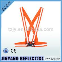 Orange elastische reflektierende Sicherheits-Gurt