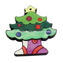 Custom Christmas tree shape USB flash drive, made of soft PVC material, OEM orders are welcomeNew