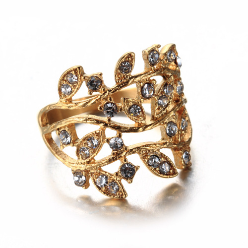 women leaf ring
