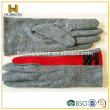 Customized thin smart finger touch ladies wool hand gloves