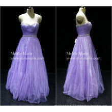 [In Stock] Spaghetti Strap Sweet Bridesmaid Evening Dress Prom Gown with Rhinestones plus size evening dress